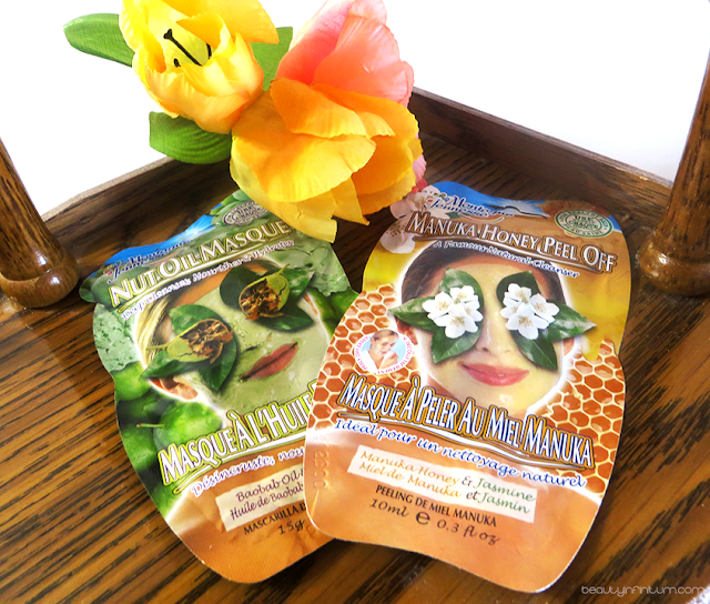 montagne jeunesse manuka honey peel off masque, montagne jeunesse nut oil masque