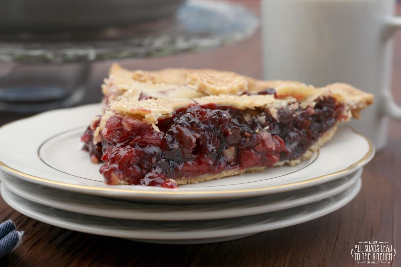 Triple Cherry Pie inspired by Twin Peaks | #FridayPieDay