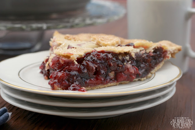 Triple Cherry Pie inspired by Twin Peaks | #FridayPieDay