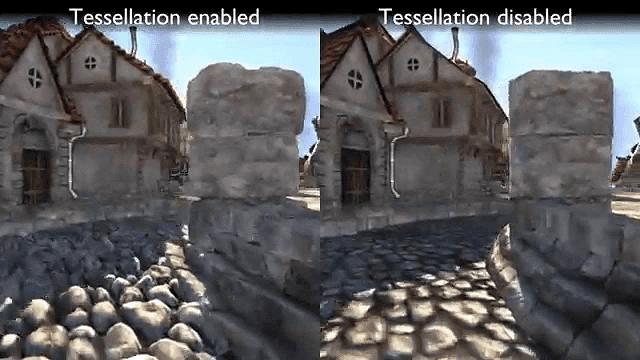 dengan Tessellation, lekukan dan guratan objek dalam game akan tampak nyata