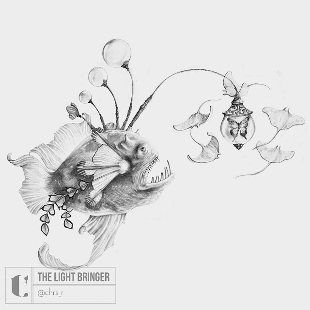 03-Light-Bringer-inspired-by-Angler-Fish-Chris-R-Detailed-Drawings-Involving-Animals-www-designstack-co