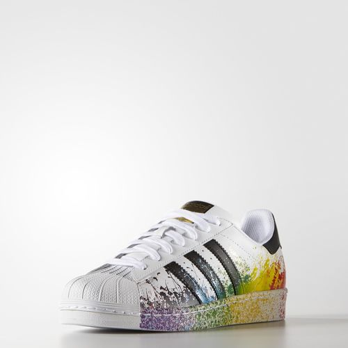 adidas Originals Superstar branco white Pride 2016