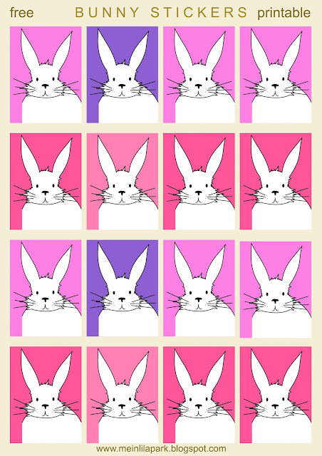 Free printable cute bunny planner stickers - Hasensticker - freebie