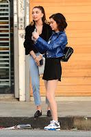 Amanda Steele Hot Leggy in Black Mini Skirt