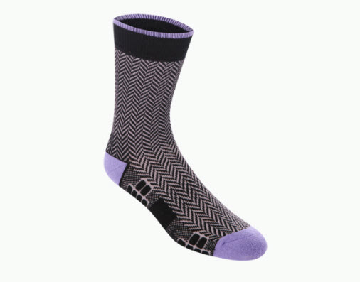 Atlas Purple and Grey Dress socks by Ministry of Supply