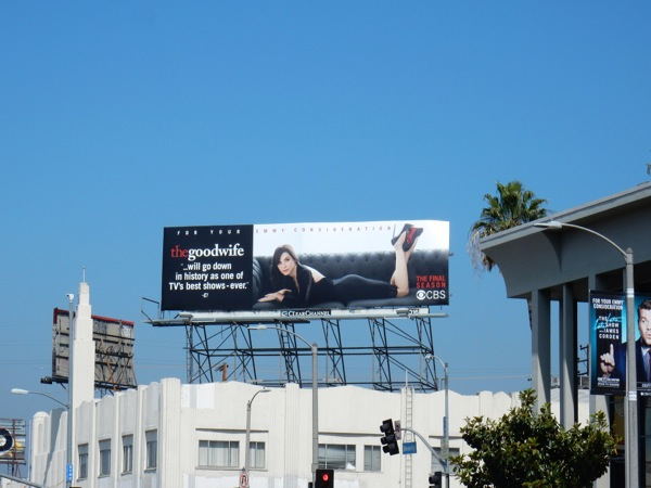 Good Wife season 7 Emmy 2016 billboard