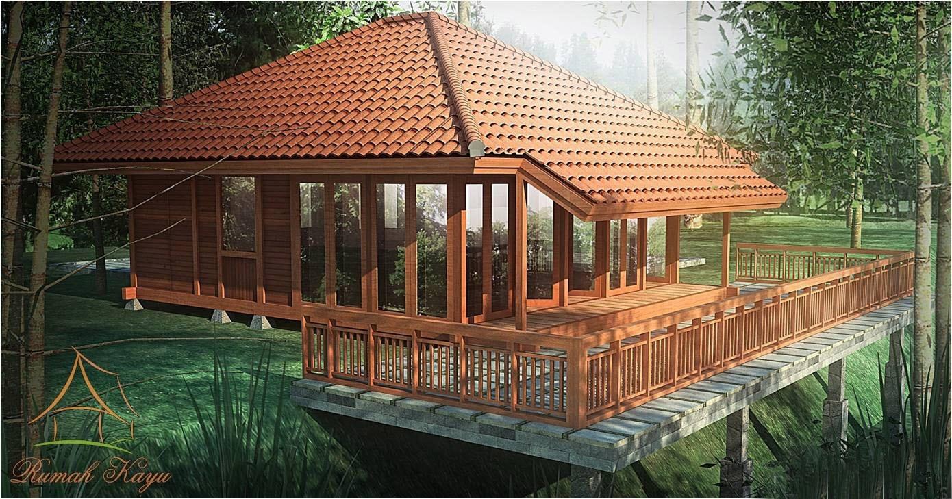 Desain Dan Denah Rumah Kayu Minimalis  Wallpaper Dinding