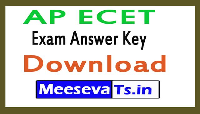 AP ECET Exam Answer Key Download 2018