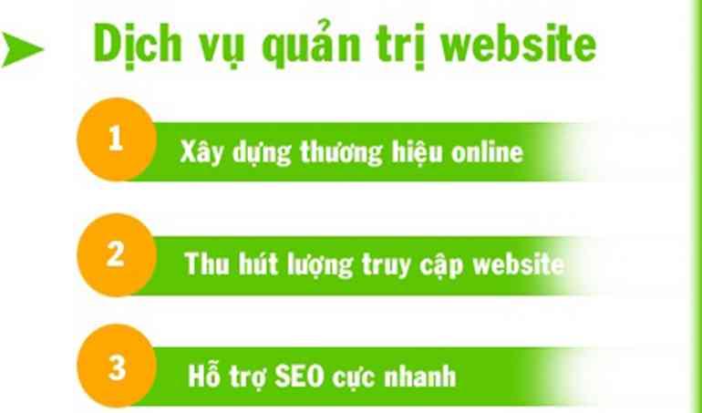 Quản trị website giá rẻ tại Tân Uyên