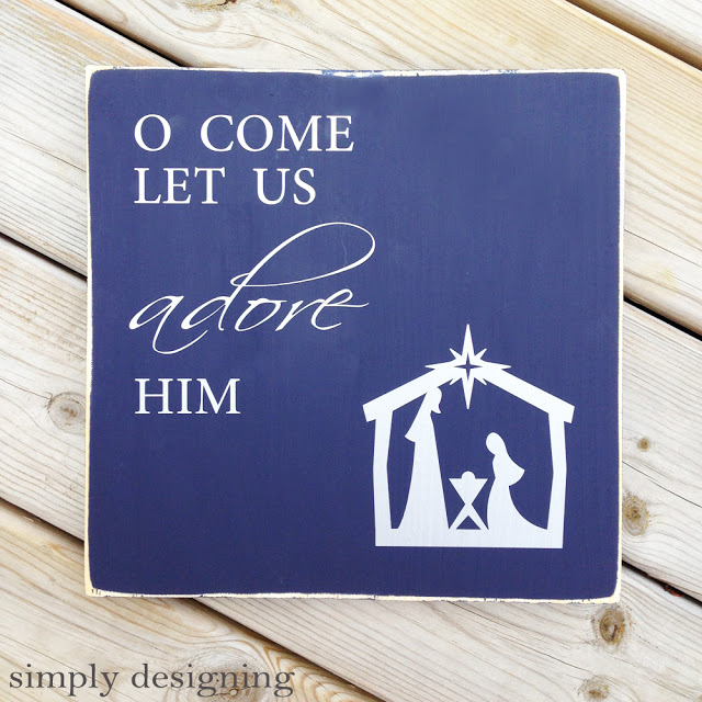 Oh Come Let Us Adore Him Wood Signs Christmas Signs Wood: 13 DIY Holiday Decorations