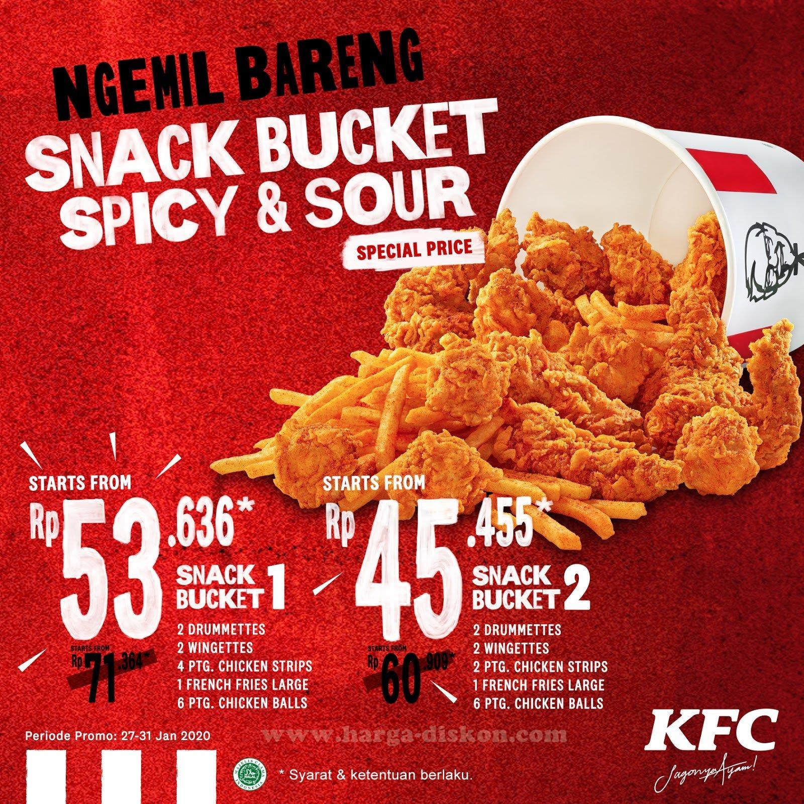 Harga dan Promo KFC Terbaru