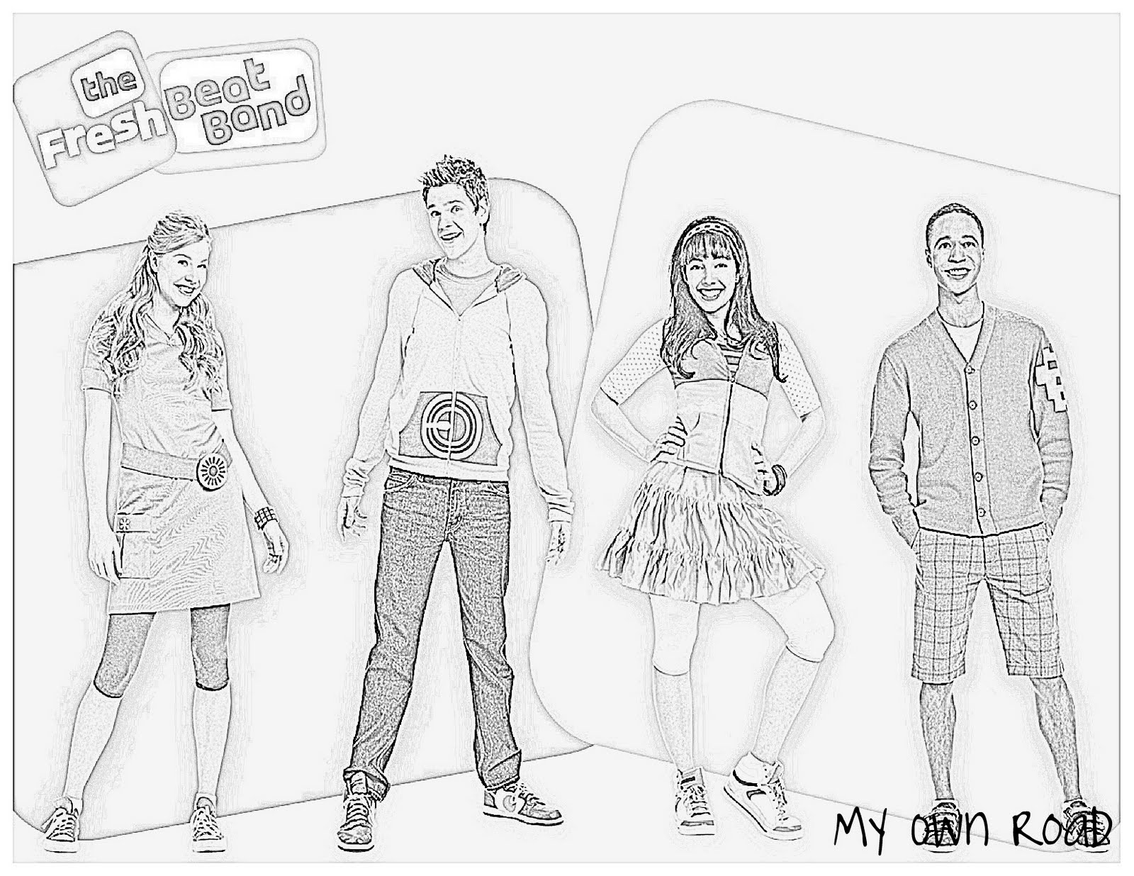 fresh beat band coloring pages my own road fresh beat band birthday goody bags and