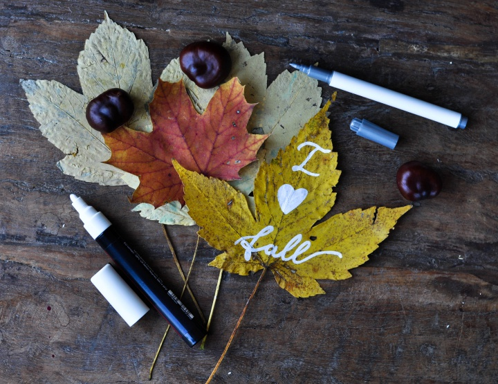 the perfect #diy for #fall: #painted #leafs