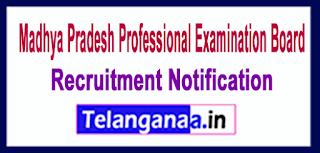 Madhya Pradesh Professional Examination Board VYAPAM Recruitment Notification 2017 Last Date 12-06-2017
