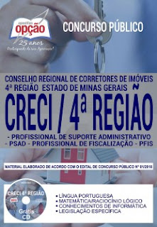 Download Apostila Concurso CRECI 4ª Região 2018 PDF gratis