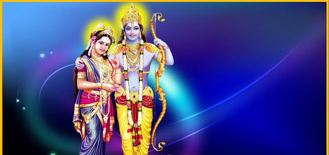 Best Lord Ram & Sita Romantic  Wallpaper