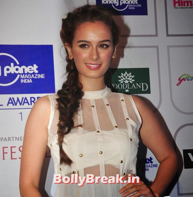Evelyn Sharma, Evelyn Sharma sizzles at Lonely Planet Magazine India Travel Awards 2014