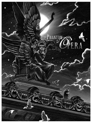 The Phantom of the Opera Standard Edition Screen Print by Nicolas Delort & Dark Hall Mansion