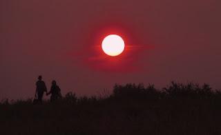 foto belle sul tramonto