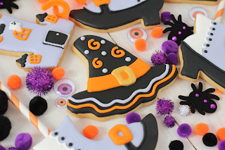 Galletas decoradas gorro Halloween