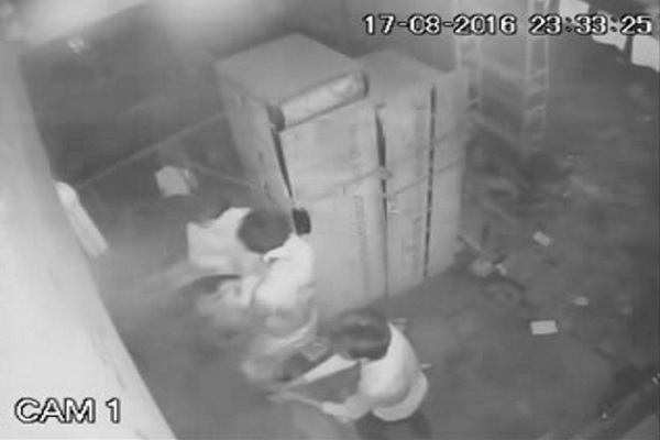 parchune shaop owner murder kand in faridabad attackers seen in cctv