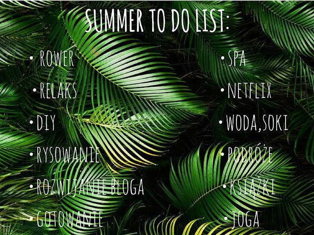 Aktywne wakacje: TO DO LIST.