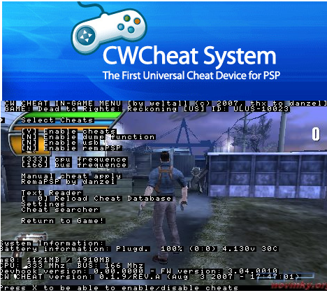 Download Cw Cheat for Psp