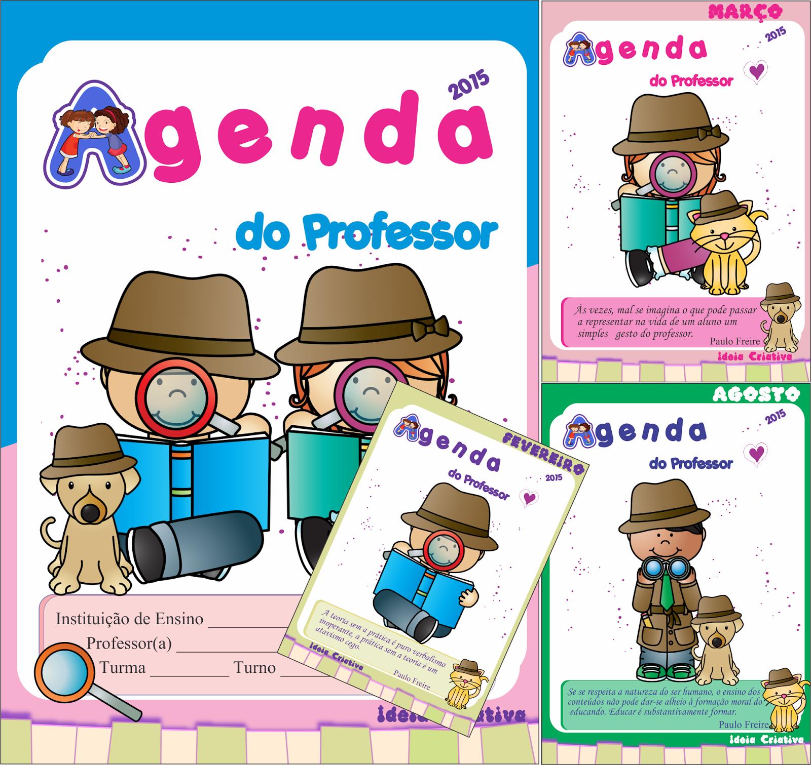 Agenda Grátis para  Professor 2015