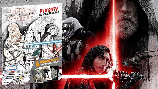 Recenzja - Star Wars. Ostatni Jedi: Plakaty do kolorowania / Kolorowanki plakatowe
