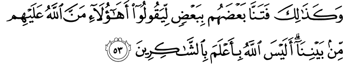 Surat Al-An'am Ayat 53