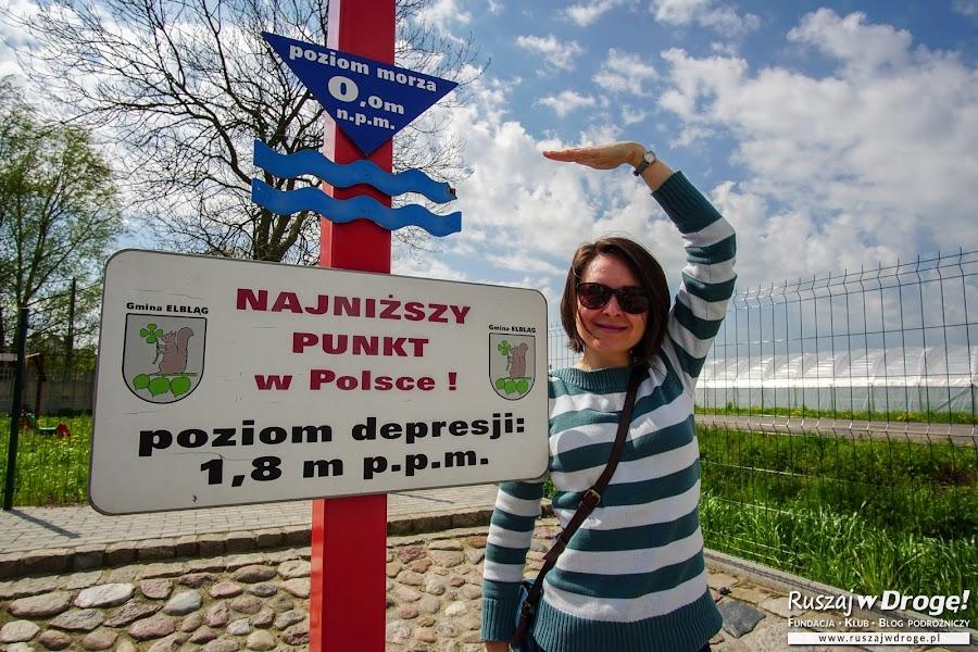Najniższy punkt w Polsce jest tutaj