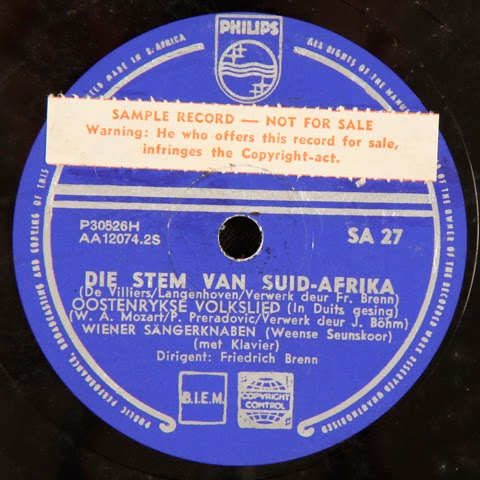The South African National Anthem: a history on record
