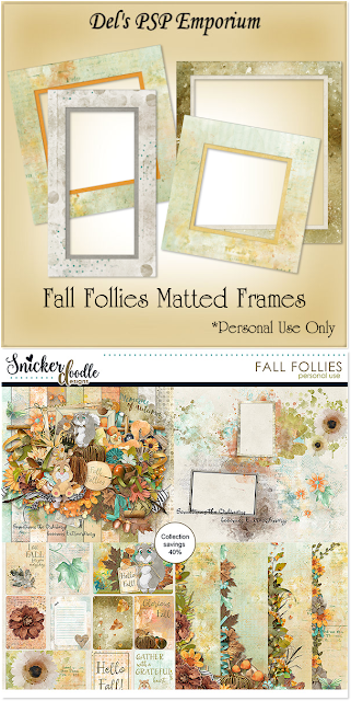 Fall Follies Matted Frames