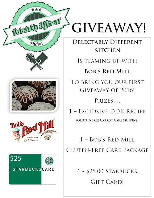 Delectably Different Kitchen & Bob's Red Mill Giveaway!