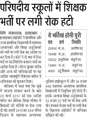 UP Urdu Teacher Recruitment 2018 4000 Moallim Bharti News