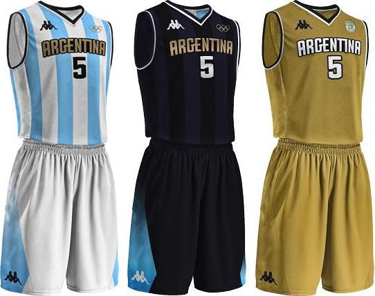 Kappa lança uniformes de basquete da Argentina para Rio 2016 - Show ... ba03b224d28d6