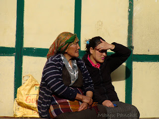 Local women at Thangu, North Sikkim