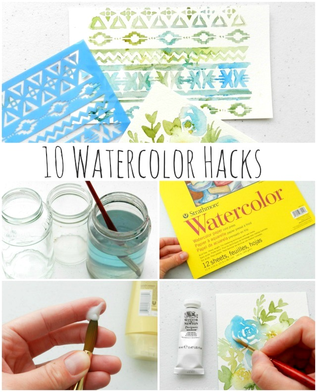 10 Watercolor Hacks to make your painting easier! by Grow Creative Blog
