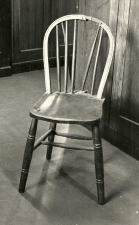 Chair in which Josef Jakobs was seated for his execution. Held by the Armouries, Tower of London.