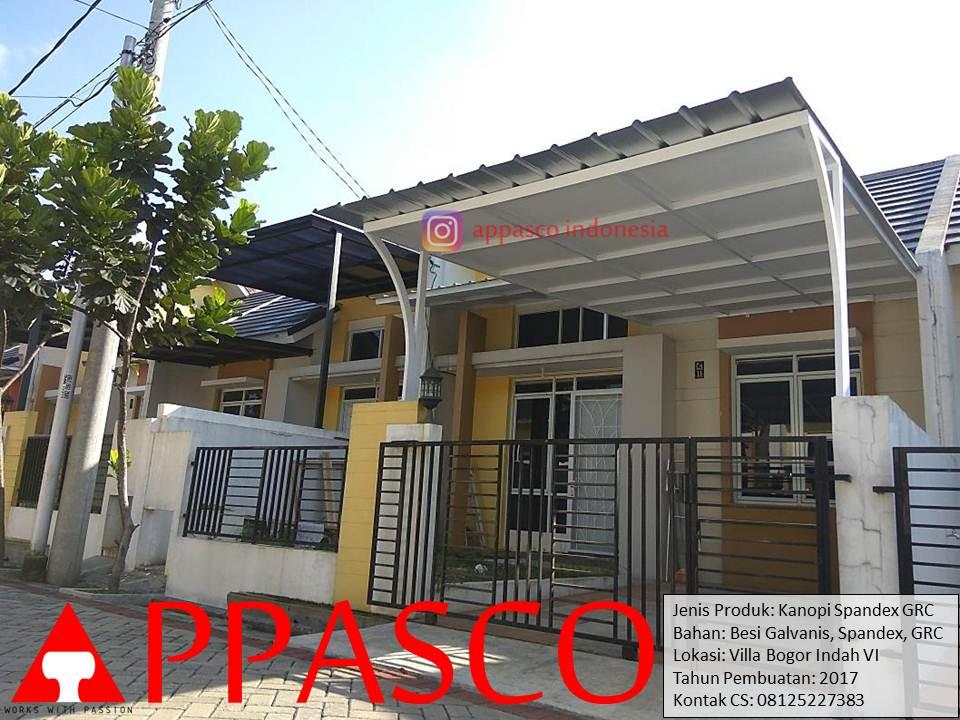 Kanopi Spandek GRC di Villa Bogor