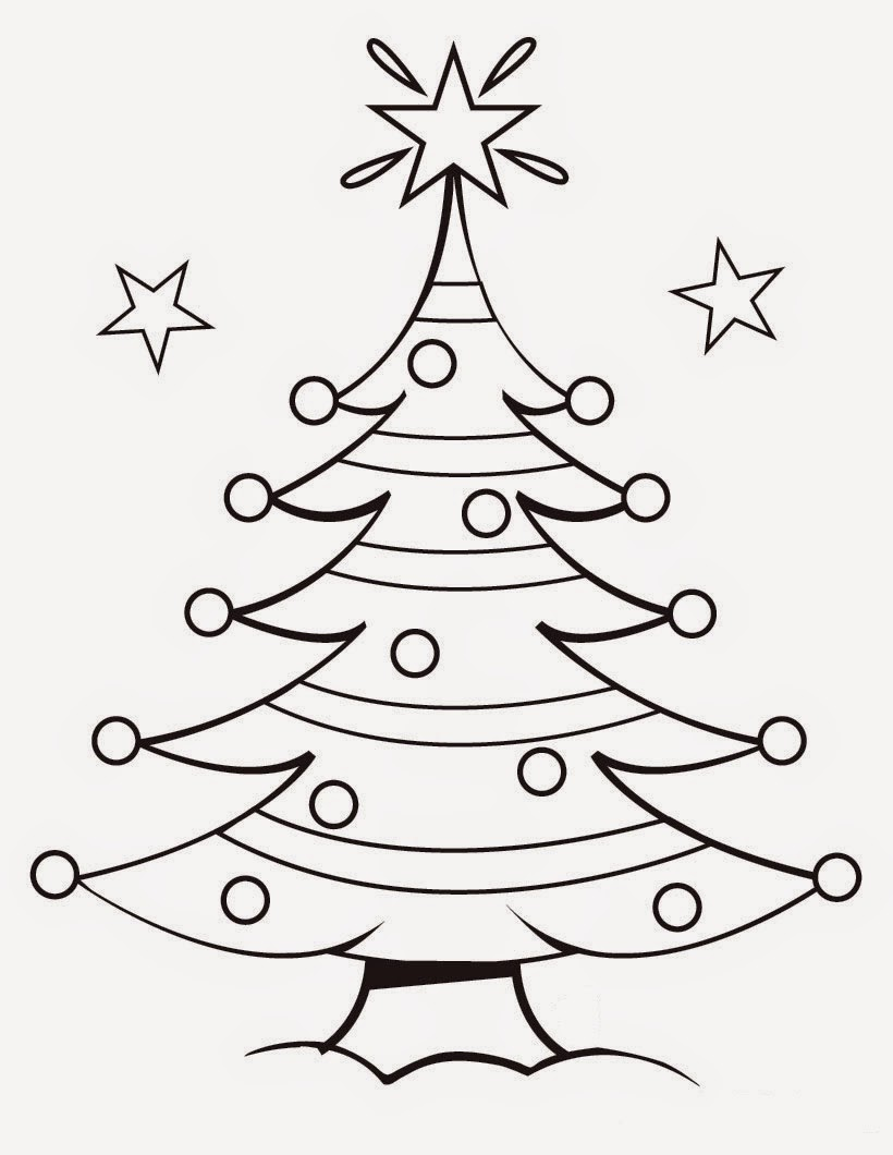 Christmas Tree Drawing Coloring Child Coloring