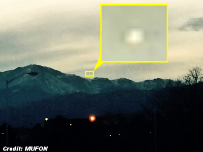 Horseshoe-Shaped UFO Photographed Hovering Over Pikes Peak 12-16-14