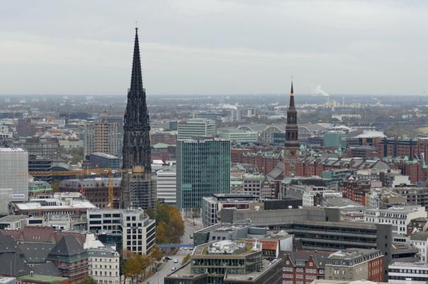 St Nikolai, Kirche, Mahnmal, Aussicht, Sicht, Michel
