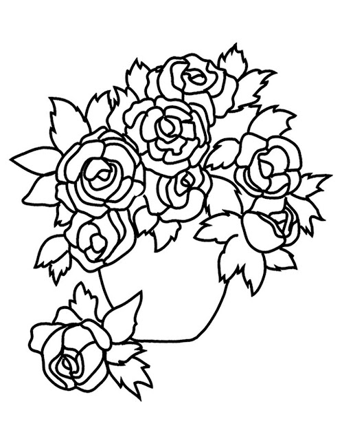 Coloring Pages Of Rose Flower Coloring Pages Printable Coloring