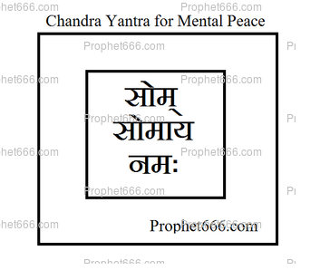 Siddha Chandra Yantra for Mental Peace, Success and Money
