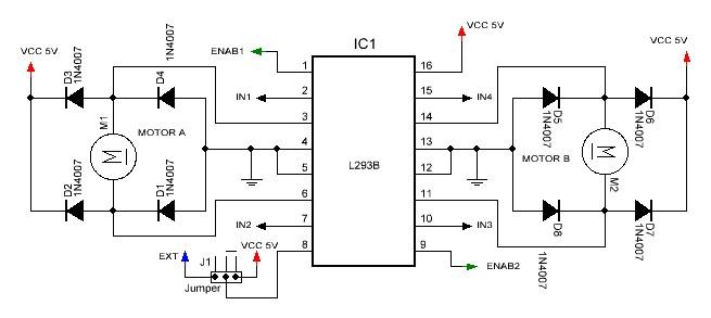 Kit circuito puente H esquema.