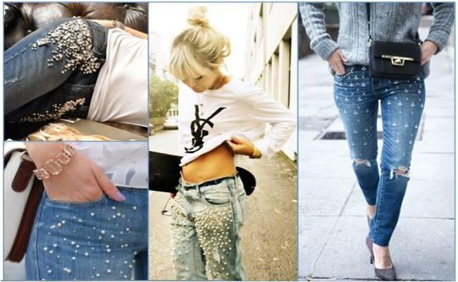 BORDADO em Calça Jeans Modelos