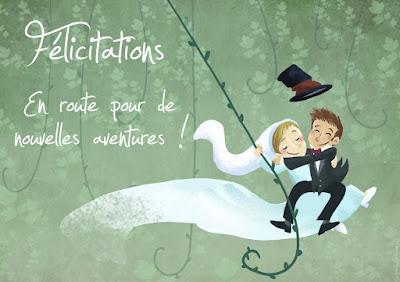 carte de voeux anniversaire de mariage