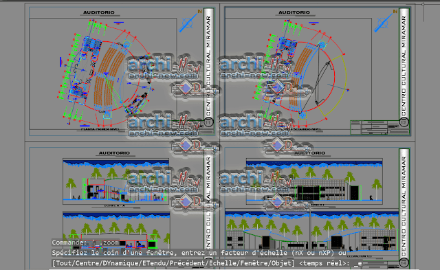 - Horizontal projections of the project Auditorium dwg