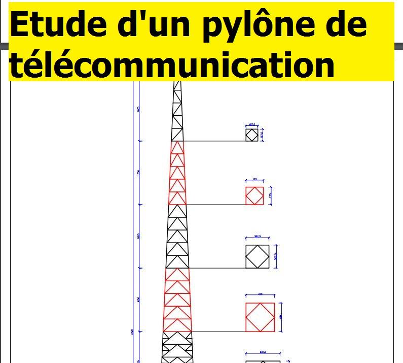 Etude Dun Pylône Autoportant De Télécommunication Mémoire